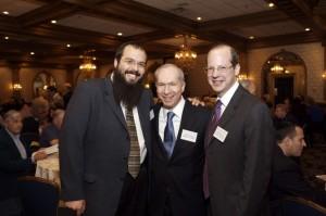 Rabbi Lubin. Center: Justice Barry T. Albin Right: Chief Justice Stuart Rabner