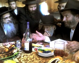 Rabbi Shlomo Drimmer right