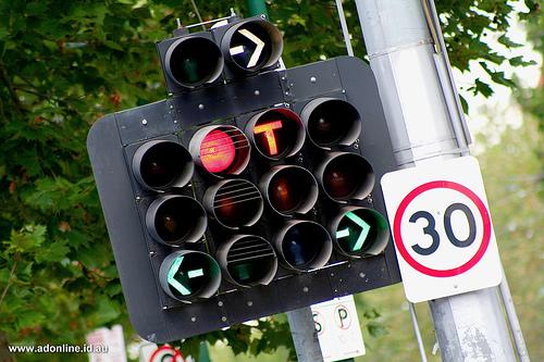 Australian traffic lights