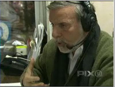 Hikind on his weekly radio show