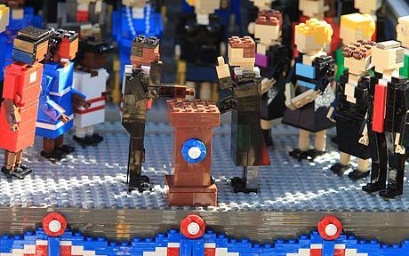 Lego master craftsmen create Barack Obama's inauguration - Telegraph