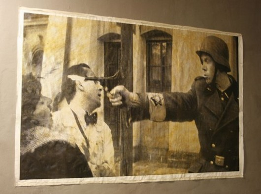 The exhibition of Peter Fuss was vandalised only 30 minutes after it opened in Prague