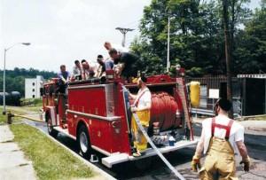 File photo of Kiryas Joel firefighters
