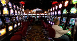 The slot machines at Monticello Raceway