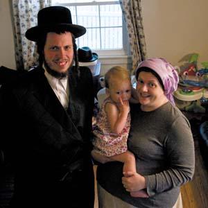 Rabbi Joseph Kolakowski, his wife Chavah and their daughter Faith. Photo by Scott Elmquist
