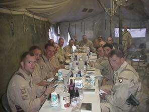 Jewish Soldiers - Pesach Dinner, Fallujah