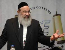Rabbi Rubin at the Kashrut Conference in Brussels Photo: Meir Dahan, RCE