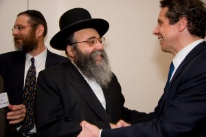 Rabbi David Niederman of UJO Williamsburg and Attorney General Andrew Cuomo