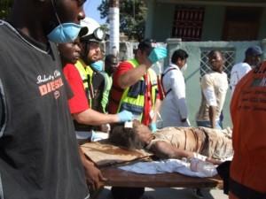 Zaka worker in Port au-Prince
