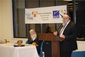 Rabbi Shalom Lipskar, executive director of the Aleph Institute speaking inside the prison