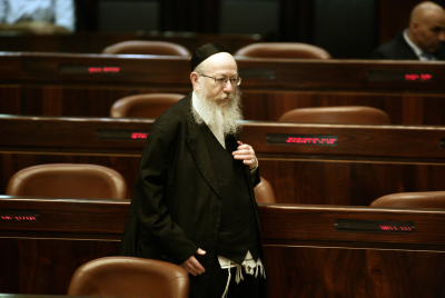 Yakov Litzman in the Knesset (Israel's parliament) in Jerusalem, on June 08, 2009 . Archived Photo by Abir Sultan/Flash 9