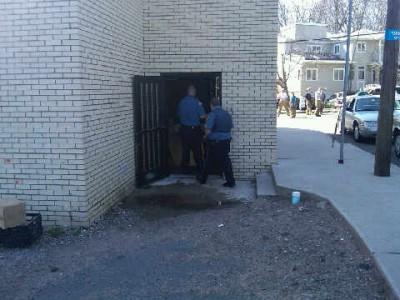 Police had to break down the door