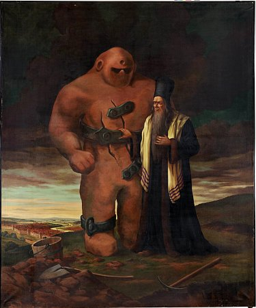 The most popular depiction of the character of Rabbi Loew and the Golem is as a burly clay giant, designed by the late sculptor Jaroslav Horejc for the 1950s film The Emperor's Baker/The Baker's Emperor. On Tuesday, a Prague court recognised his descendant's claim to the film version, meaning that anyone else using the character will have to pay for the rights.