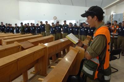 FILE - Israeli soldiers praying during the evacuation of Gush Katif. August 21, 2005. Photo by Nati Shohat/Flash90.