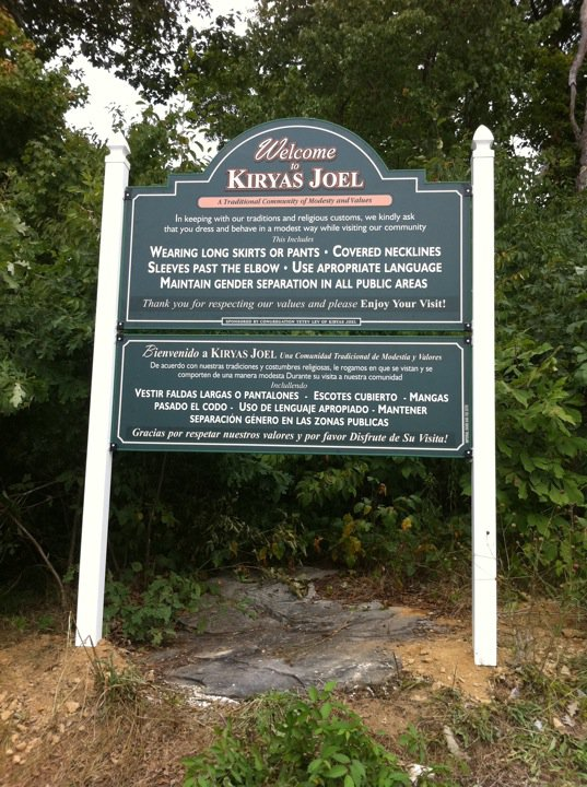 Kiryas Joel, NY - Village Posts \'Tznius\' Signs Requesting Visitorskiryas joel village
