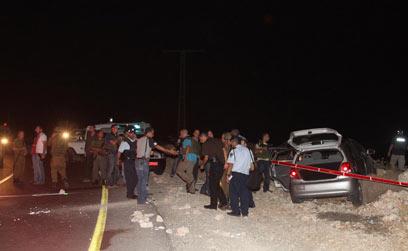 Shooting victims' vehicle Photo: Gil Yohanan