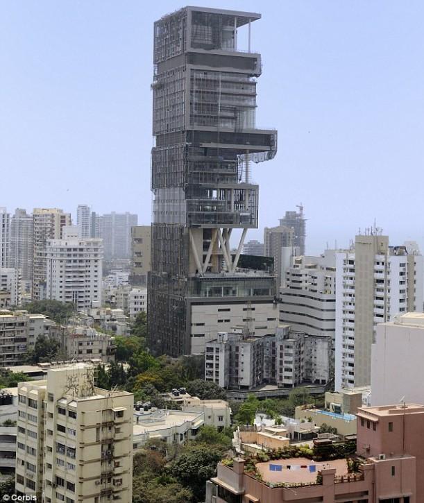 Mumbai India 39 S Richest Man Builds First Billion Dollar Home