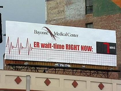 Bayonne, NJ - N.J. Hospital Advertises 7-Minute ER Wait Times