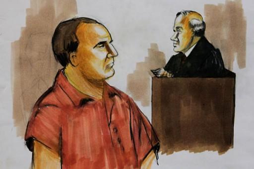 David Coleman Headley, shown in this Dec. 9, 2009 courtroom drawing.  Verna Sadock/AP/File