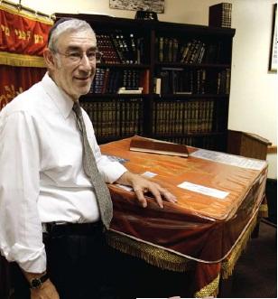 Rabbi Yudin at his shul in Fair Lawn, NJ. Photo: by Jessica Rinaldi