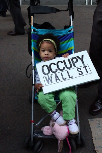 Small child at Occupy Wall St. Photo: Jimmy Justice