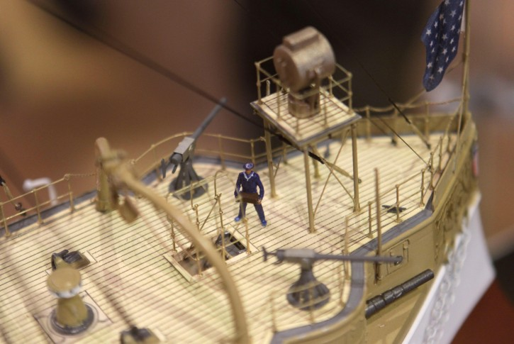 Detailed ship models are displayed in the Brooklyn Navy Yard Center at Building 92 in New York, Wednesday, Nov. 2, 2011. The center, which explores the history and current uses of the Navy Yards, opens to the public on Friday, Nov. 11, 2011. (AP Photo/Seth Wenig)