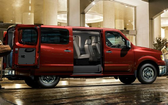 The new 2012 Nissan NV 3500 HD Passenger Van