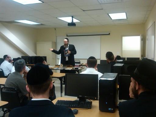 In this May 2011 photo, Rabbi Shaul Shimon Deutsch of Living Torah Museum teaching Jewish History at B'Derech program