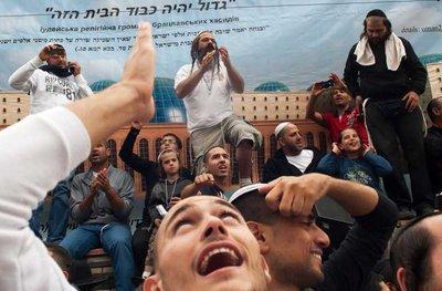 5 Orthodox Jewish pilgrims celebrate Rosh Hashanah in Uman city, about 200 km South of Kiev, Ukraine, 28 September 2011. EPA