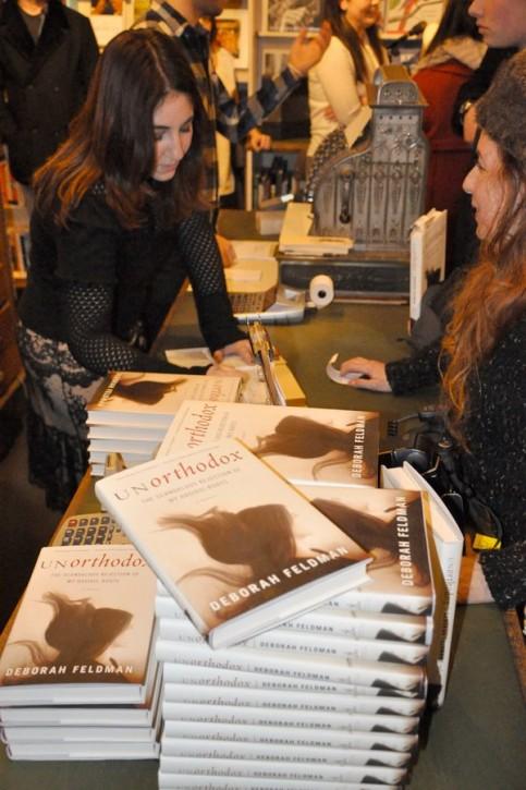 Deborah at book signing Feb 15 2012 at The Corner Bookstore in NYC. Photo via Facebook