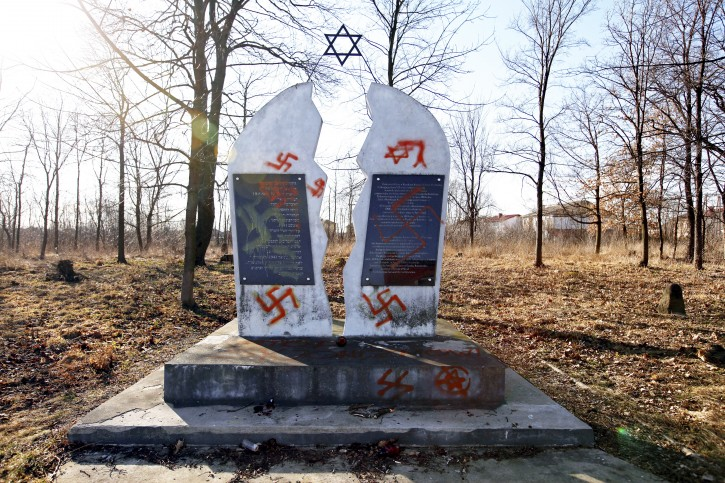 Wysokie Mazowieckie Poland Police Investigating Vandalized Jewish