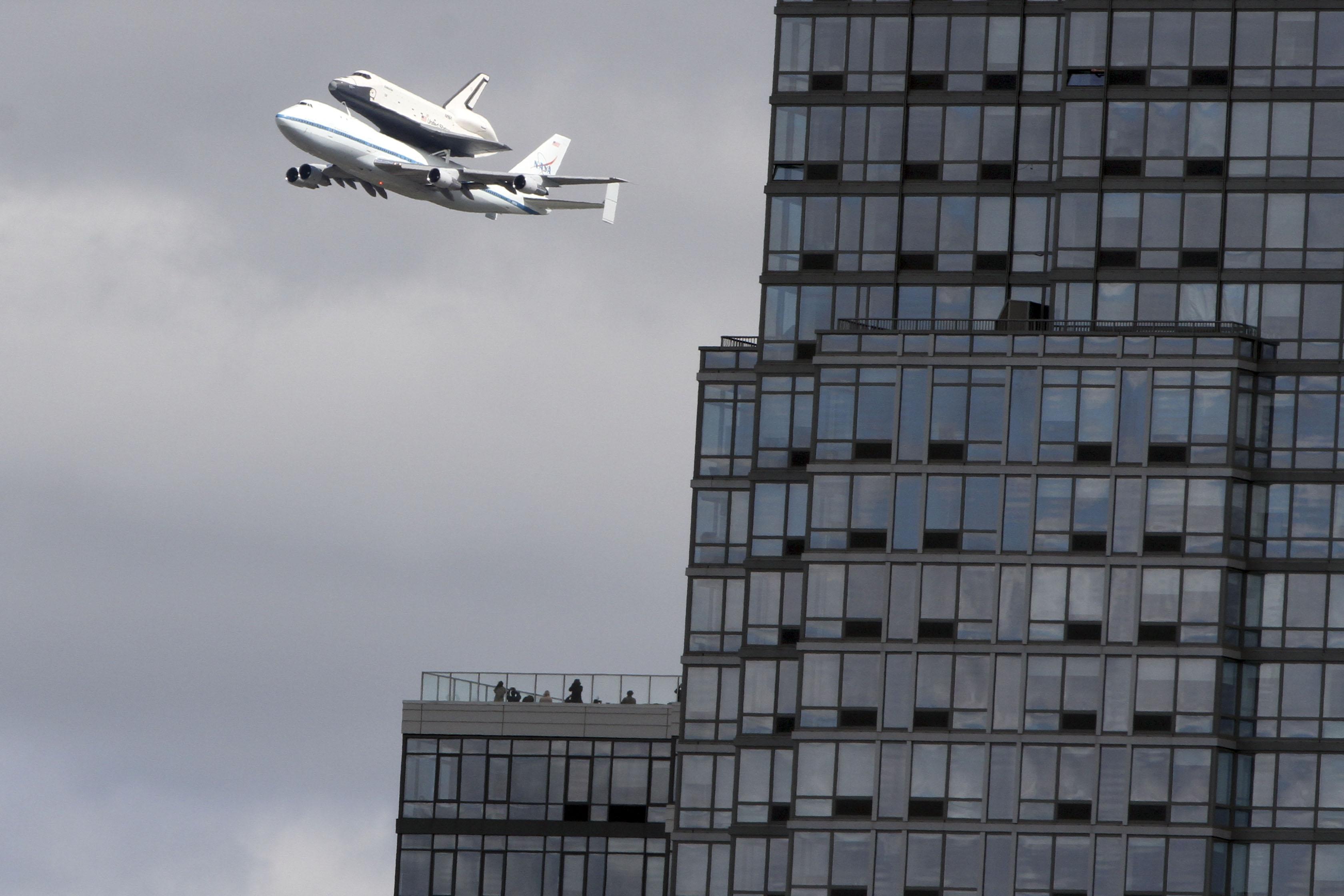 New York - Space Shuttle Enterprise Arrives At NY's JFK