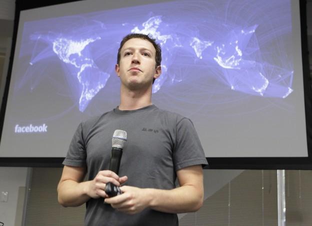 CEO Mark Zuckerberg at Facebook headquarters in Palo Alto, California. (AP)