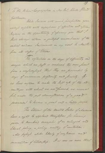 George Washington's reply to the Newport, RI,