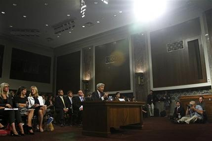 JPMorgan Chase CEO Jamie Dimon, head of the largest bank in the US, testifies on Capitol Hill in Washington, Wednesday, June 13, 2012, before the Senate Banking Committee about on how his company recently lost more than  billion on risky trades and whether its executives failed to properly manage those risks. (AP Photo/Haraz N. Ghanbari)