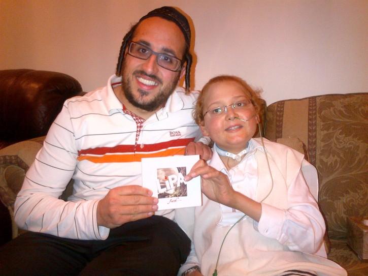 Dovid with Lipa premiering Lipa's new CD, Leap of Faith