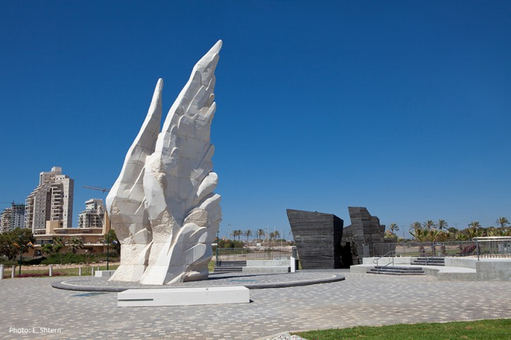 """""""The 'Victory Monument at Netanya's Yad Lebanim compound' in Israel"""