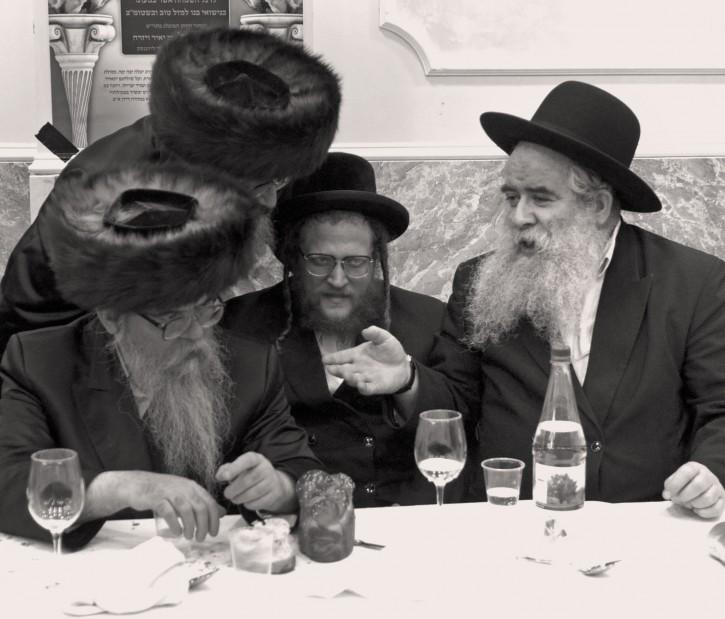 Rav Breisch on the far right. Photo credit David Braun-VINNews.com