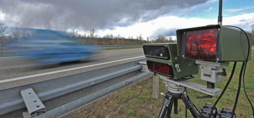 A digital speed camera monitors traffic. EPA/Patrick Seeger