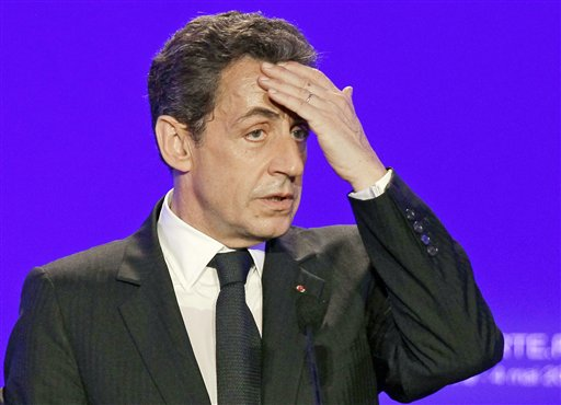 FILE - Sarkozy went before a judge on Thursday, Nov.22, 2012 to respond to suspicions he illegally accepted donations from France's richest woman to fund his 2007 election campaign. The judge in Bordeaux could decide whether the 57-year-old conservative, a polarizing figure who often faced criticism for cozy ties to the rich, will be charged with taking advantage of the 90-year-old L'Oreal heiress, Liliane Bettencourt. Sarkozy has consistently denied all allegations.(AP Photo/Michel Euler, File)