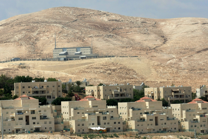 File photo of the E-1 (background) site of a new housing planning in the West Bank Jewish settlement of Maaleh Adumim, on the outskirts of Jerusalem. Photo by Kobi Gideon / flash90.