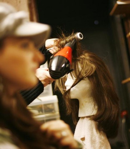 (photo illustration)Wig stylist Gail Rosenzweig at her studio in New York October 22, 2008. REUTERS/Shannon Stapleton