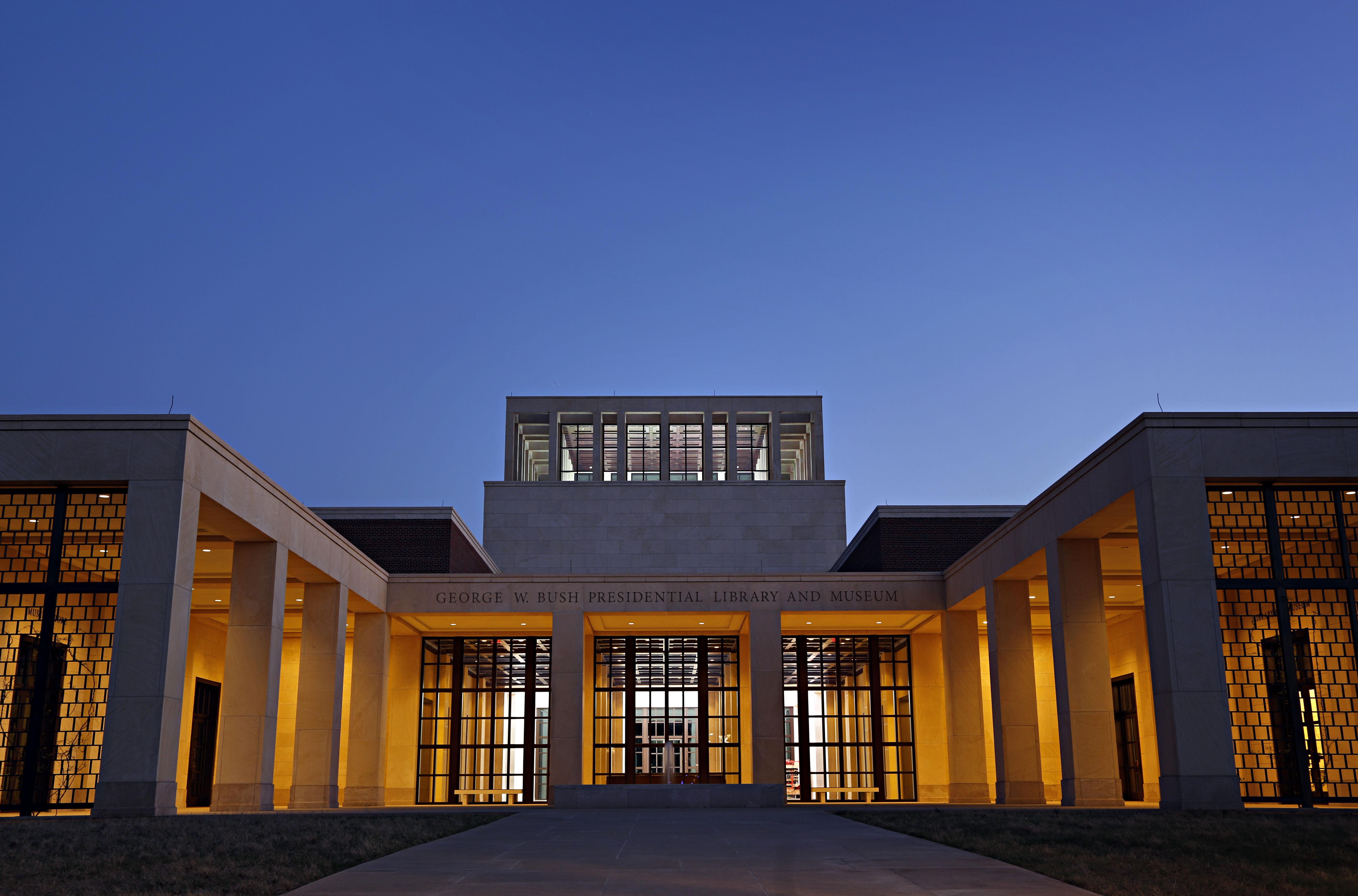 Dallas TX Bush Library Exhibits 911 War Katrina Recount