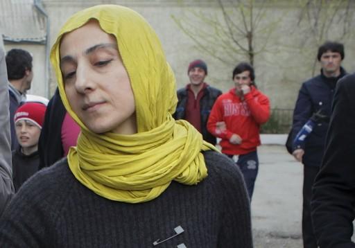 Zubeidat Tsarnaeva, mother of Tamerlan and Dzhokhar Tsarnaev. (AP Photo/Ilkham Katsuyev)
