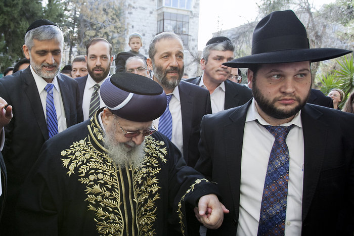 File photo of Rabbi Ovadia Yosef, the spiritual leader of the ultra-Orthodox Shas party.(Credit: Flash 90)