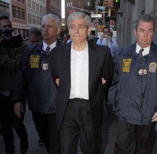 FILE - Rapfogel under arrest on Sept. 24 2013 (courtesy to VINNews.com via MARCUS SANTOS/NEW YORK DAILY NEWS)