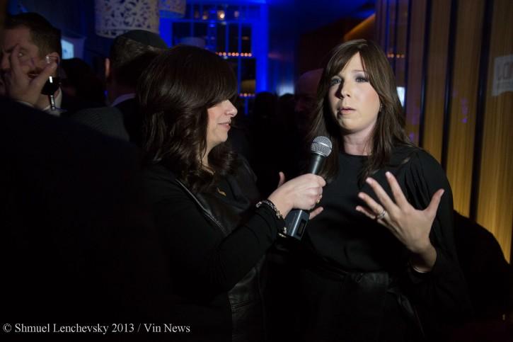 VIN News reporter Sandy Eller interviewing celebrity chef Jamie Geller