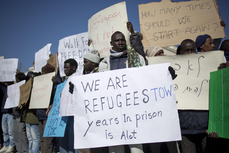 Jerusalem - Hundreds Of African Migrants Protest Detention ...