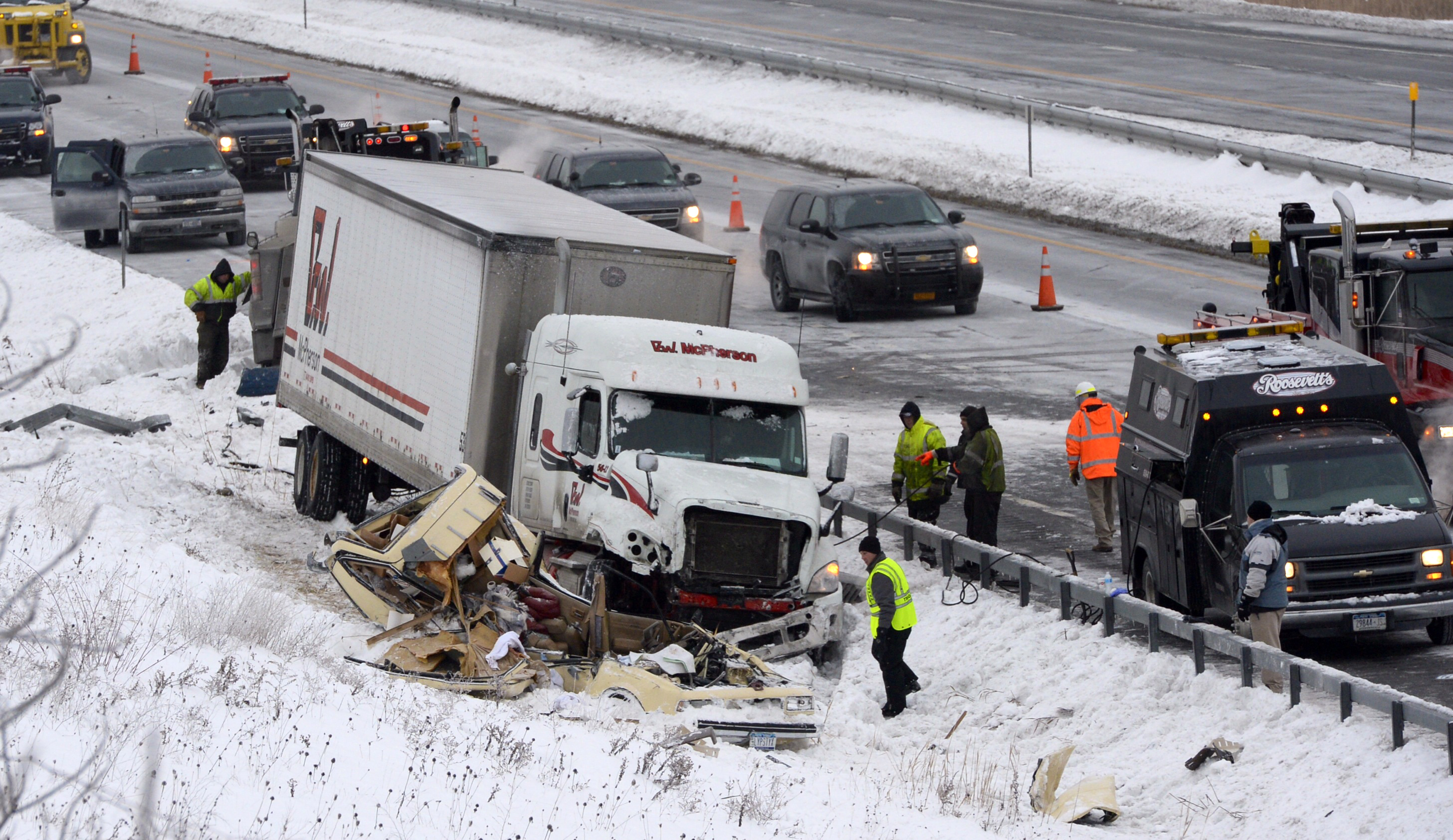 Car Tractor Trailer Accident In Albany