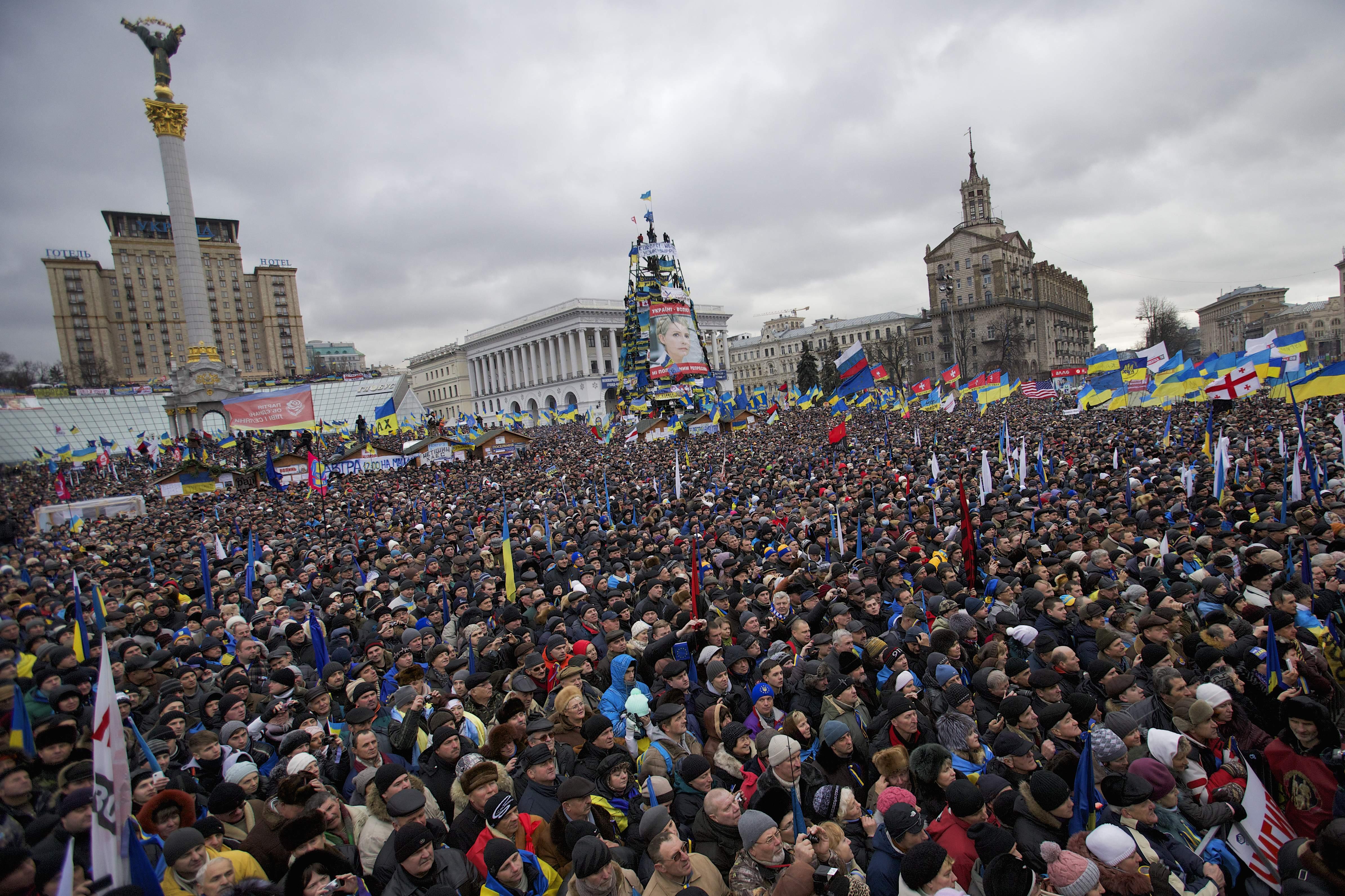 Kiev, Ukraine - Ukraine Sees Largest Anti-Govt Protest ...